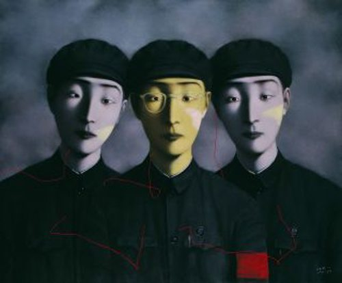 Zhang-Xiaogang.-Three-Comrades-from-Bloodline-The-big-Family-series-1994-web_
