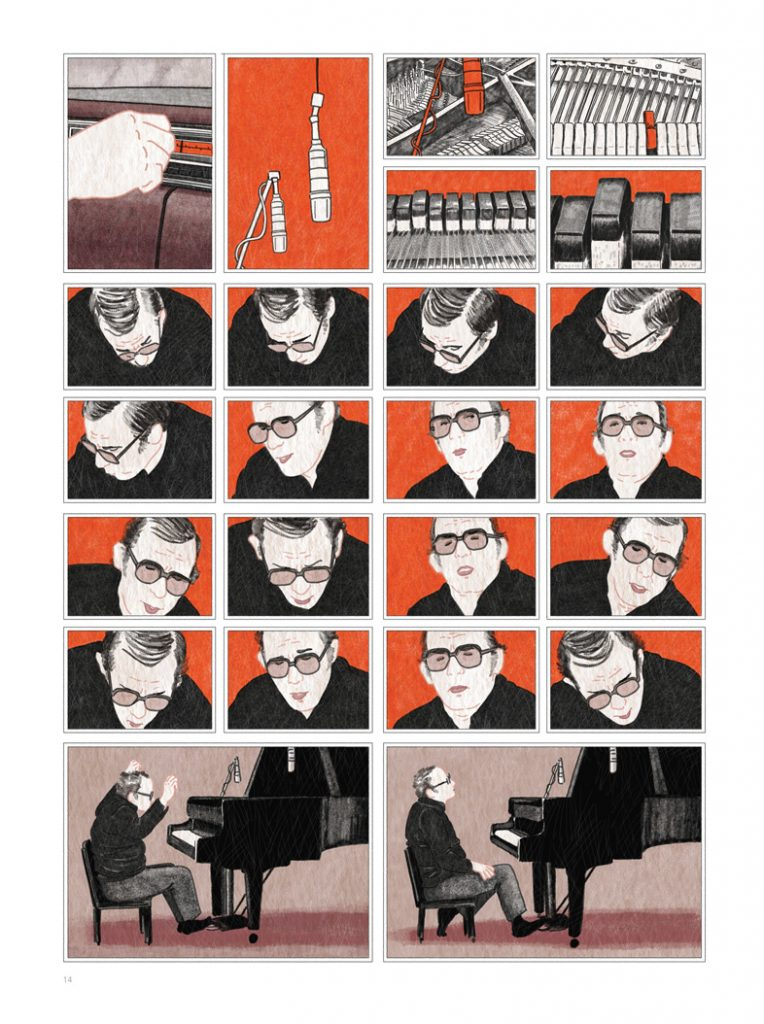 """Ilustración del libro de Sandrine Revel """"Glenn Gould: Una vida a contratiempo"""""""