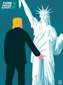 Sátira sobre el triunfo de Trump
